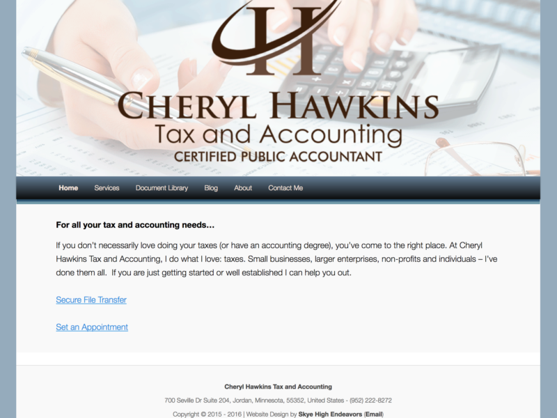 Cheryl Hawkins Tax and Accounting